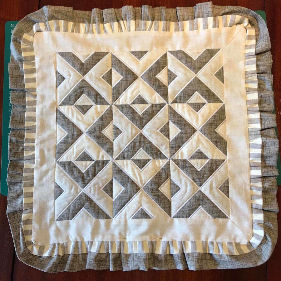 Geometric Applique Quilt Block