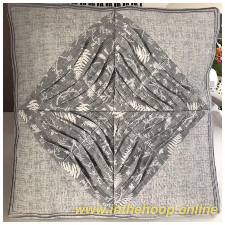Pintuck Half Square Triangle Cushion