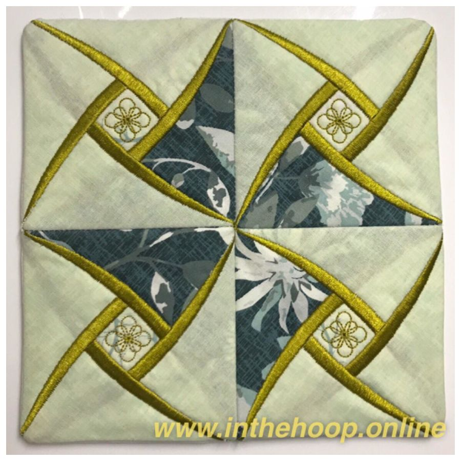 Faux Cathedral Pinwheel Quilt Block