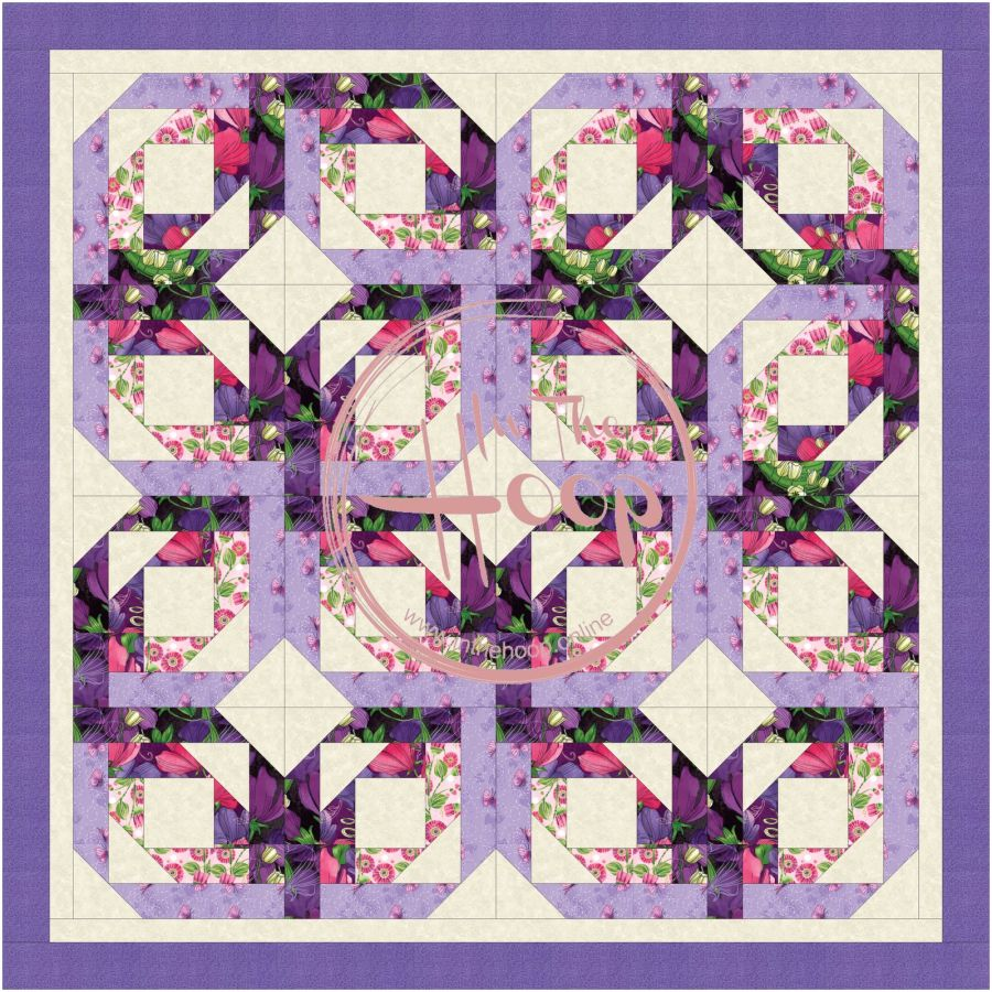 Pineapple Blossom Quilt Block