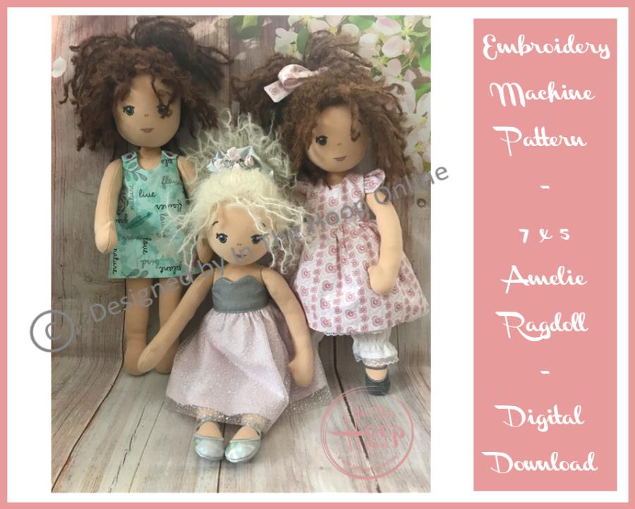 Amelie Rag Doll 7x5 - (ITH) In The Hoop