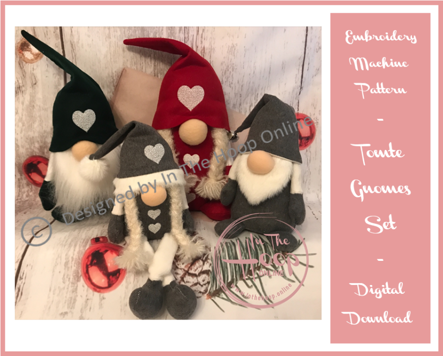 Tomte Gnomes - (ITH) In The Hoop SET OF 12