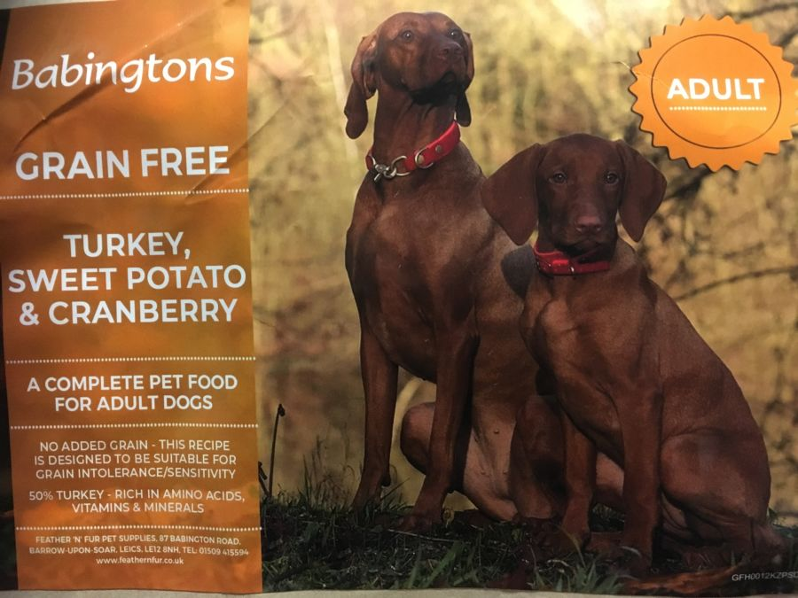 Turkey & Sweet Potato with Cranberry 1kg,6kg or 12kg options from