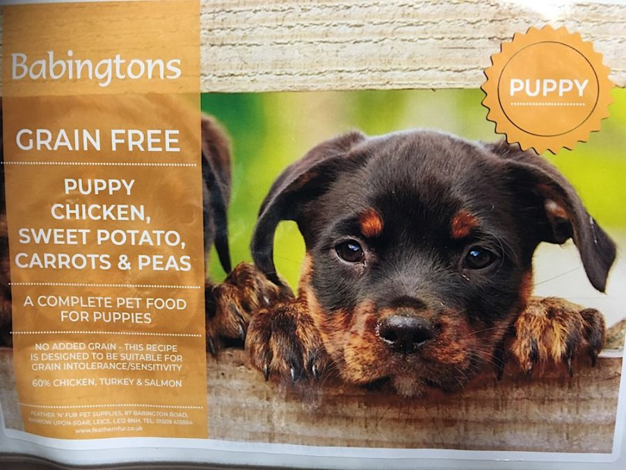 Puppy Chicken with Sweet Potato Carrots & Peas 1kg, 6kg or 12kg options from