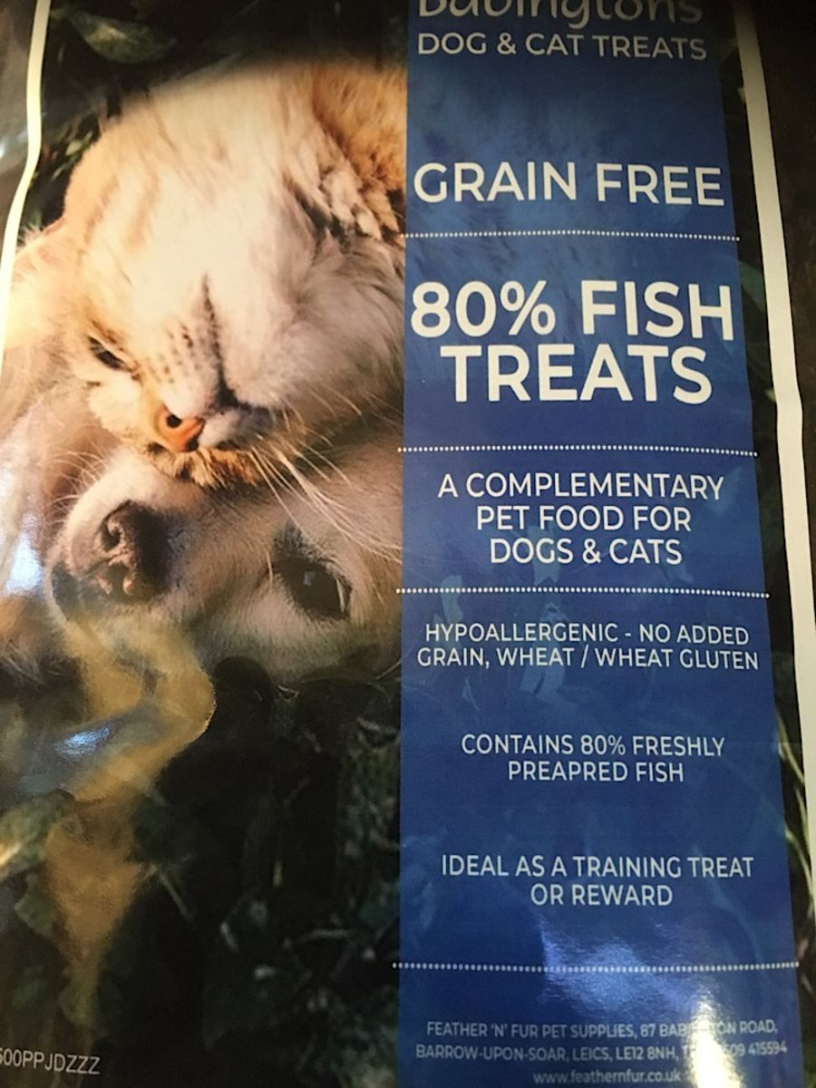 Babingtons 80% meat treat. Fish