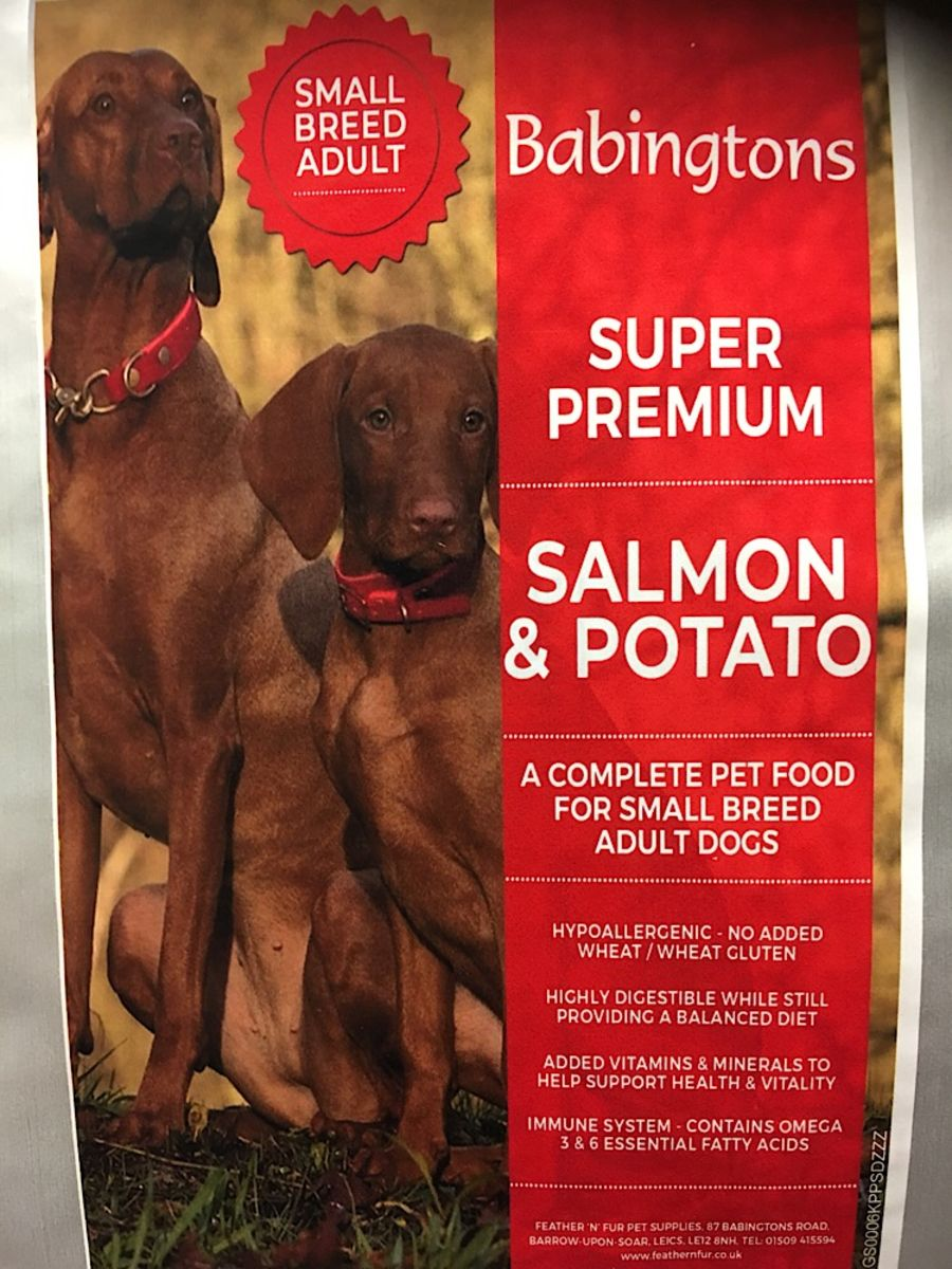 Salmon & Potato  Small Breed super Premium 1kg, 6kg or 12 kg options from