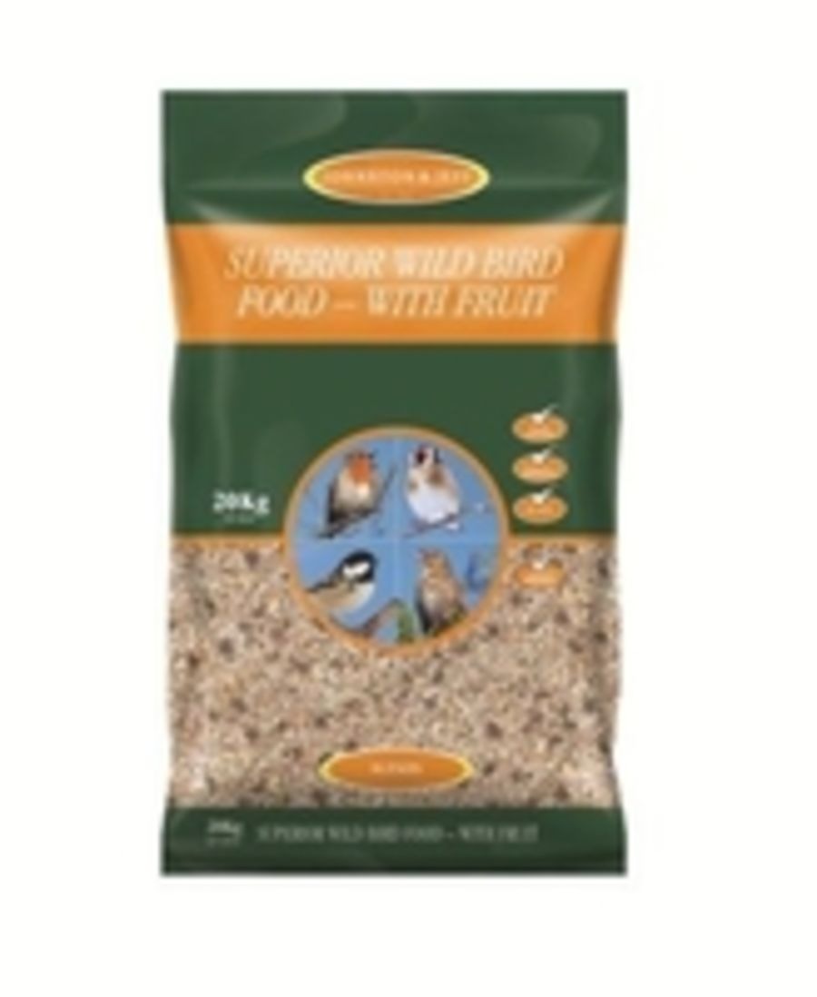 Johnston & Jeff Superior Husk Free Wild Bird Seed with Fruit from