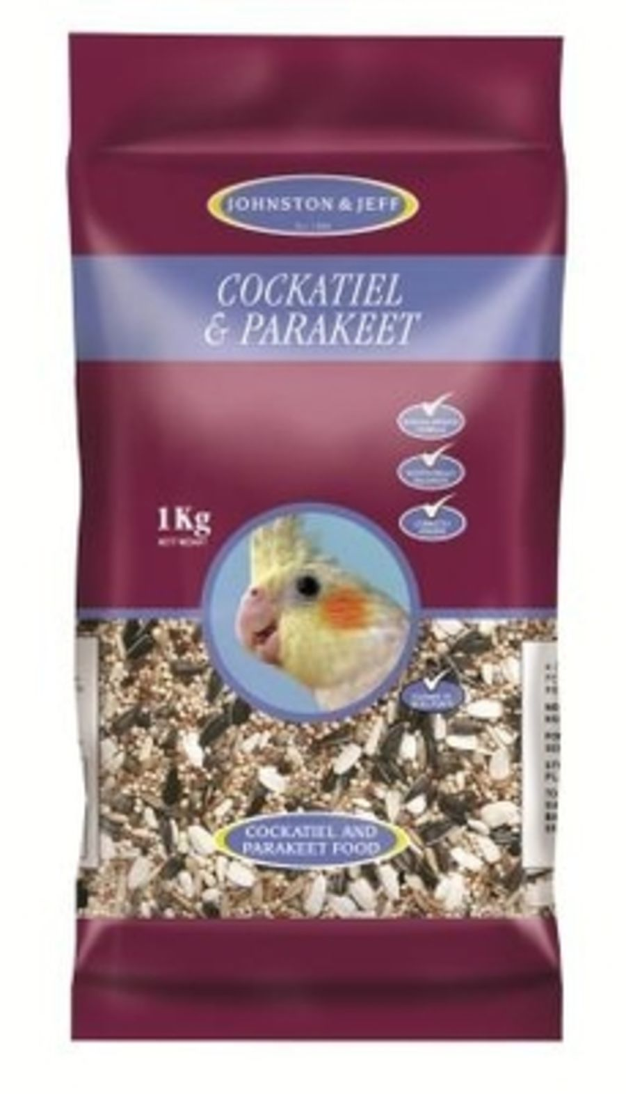 Johnston & Jeff Cockatiel & Parakeet 1kg