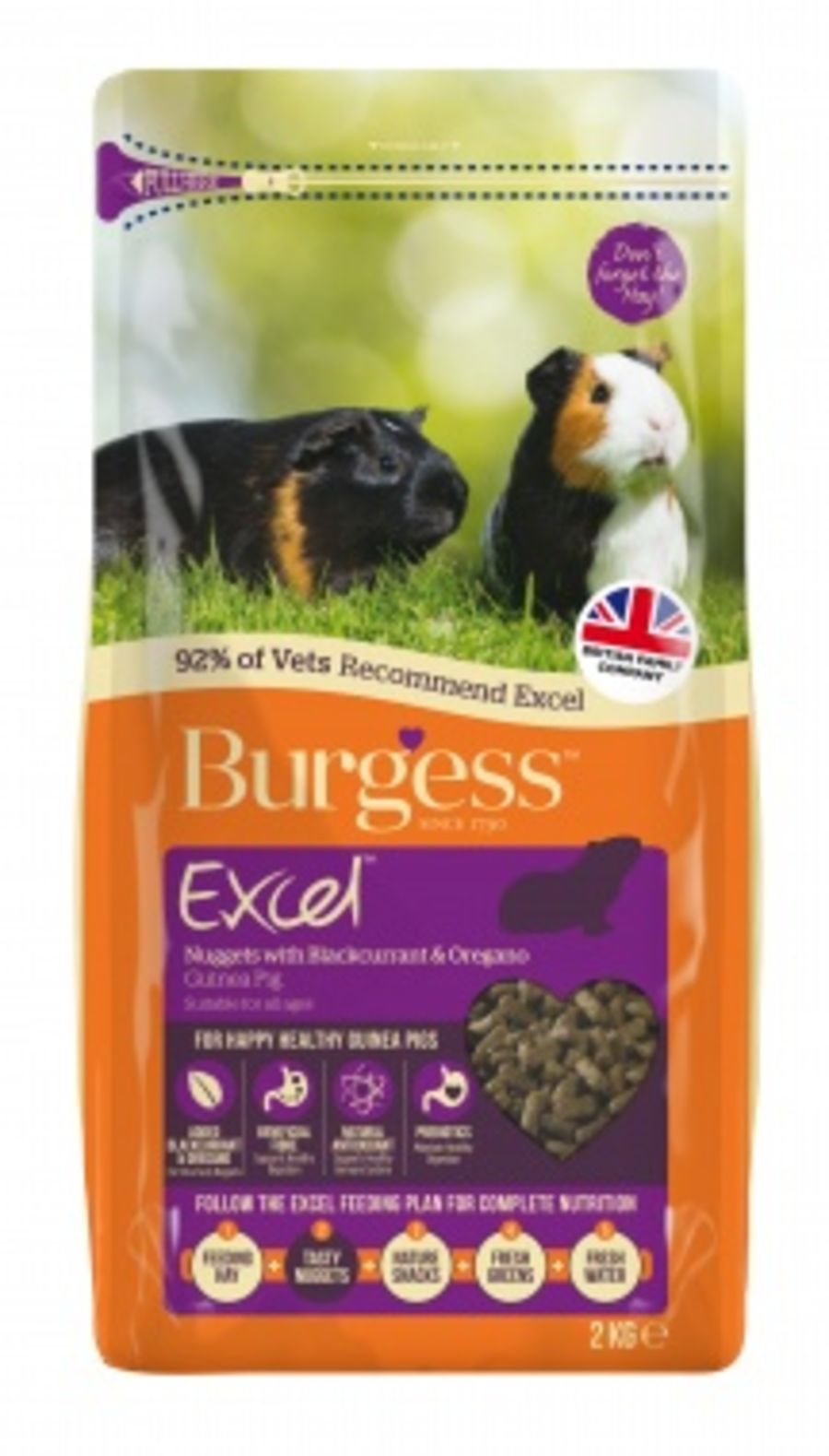Burgess Excel Guinea Pig Nuggets with Oregano 2kg