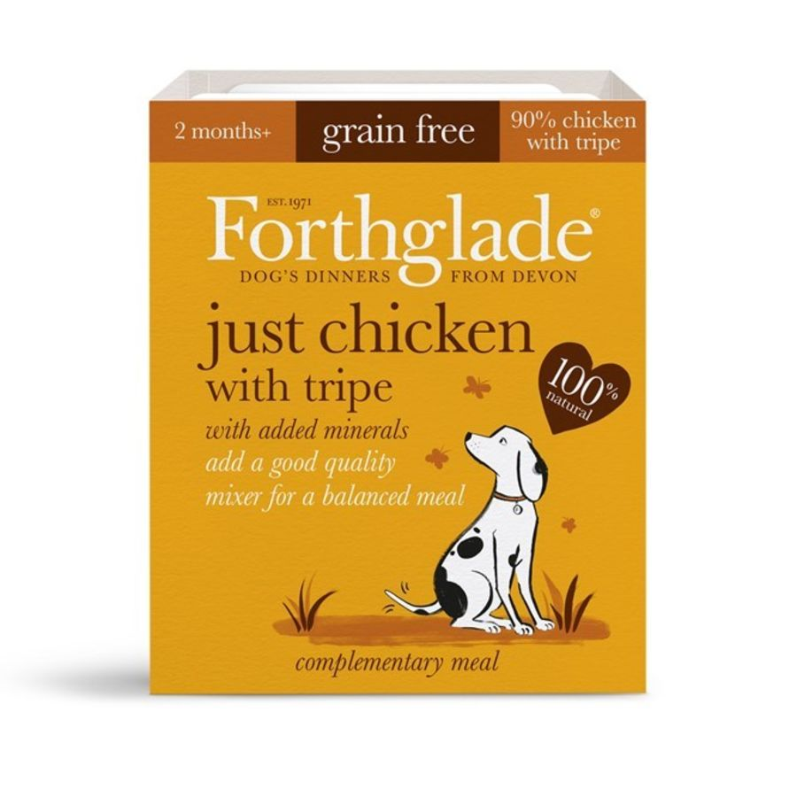 Forthglade Just Chicken with Tripe, dog food, wet, 395g