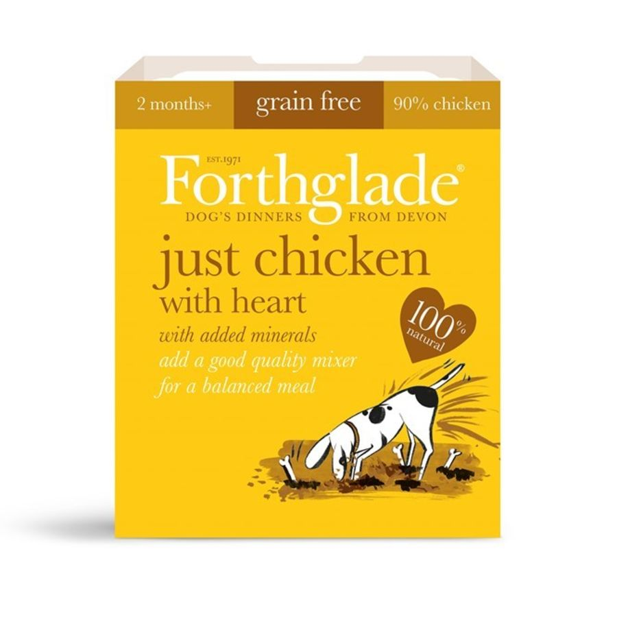 Forthglade Just Chicken with Heart, dog food, wet, 395g