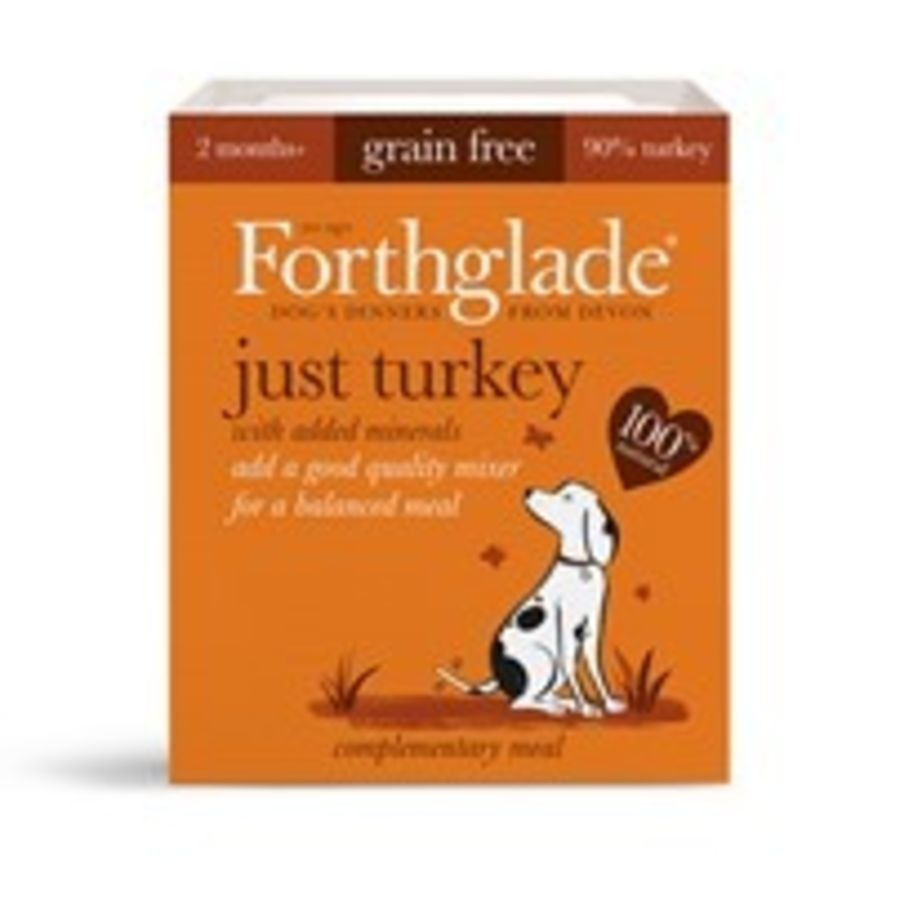 Forthglade Just Turkey dog food, wet, 395g