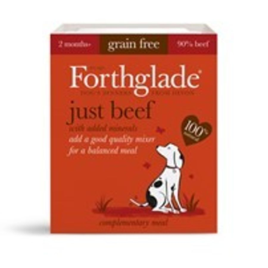 Forthglade Just Beef dog food, wet, 395g