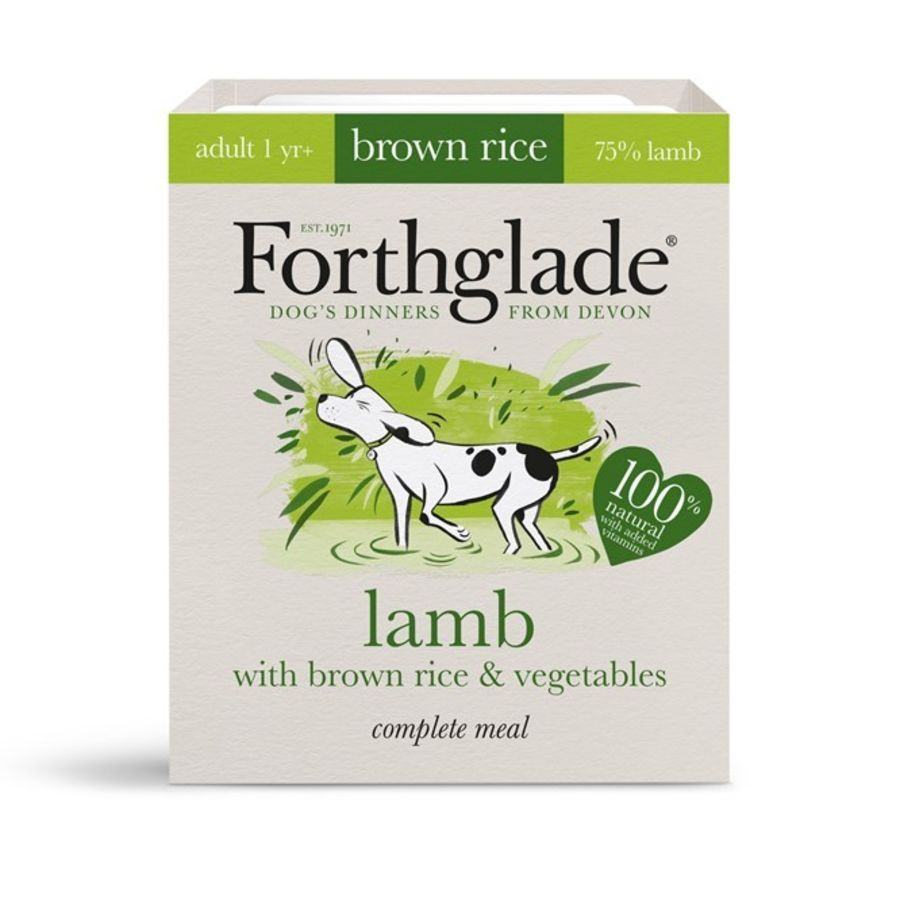 Forthglade Adult lamb with brown rice & vegetables natural wet dog food (395g)