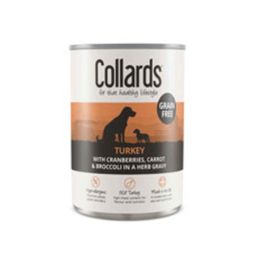 Collards Grain Free Turkey, Adult can 390g