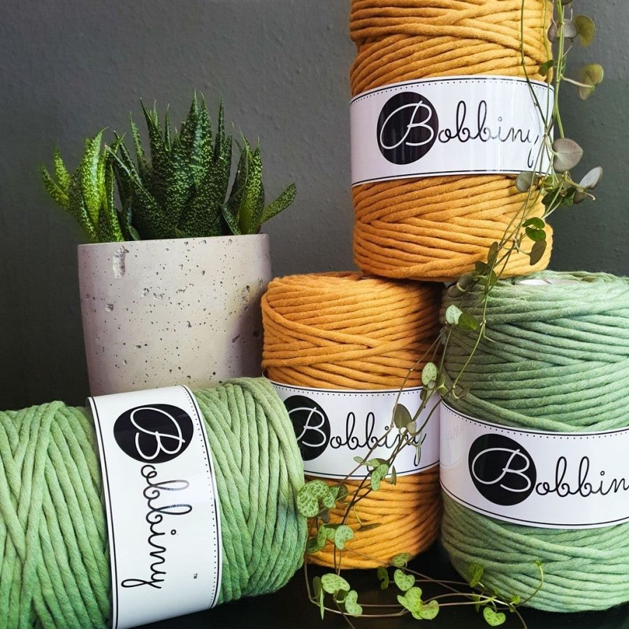 Bobbiny Macrame cord single twist 5mm