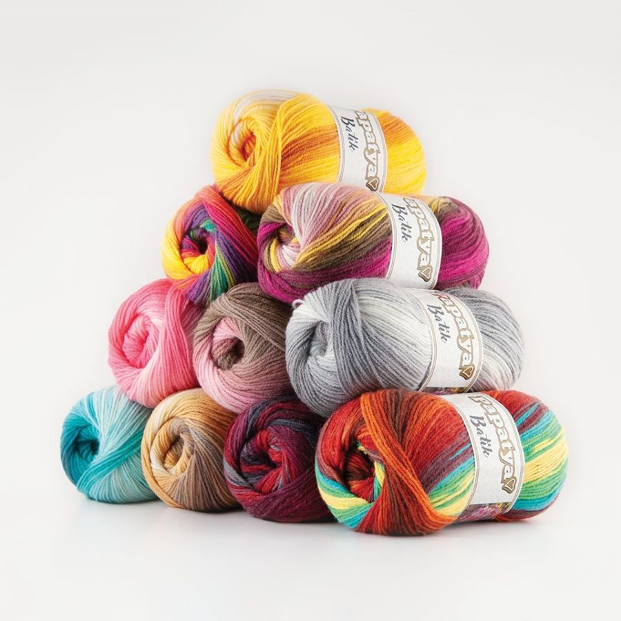 Papatya Batik Yarn - TENNER TUESDAY- (4 pack £10)