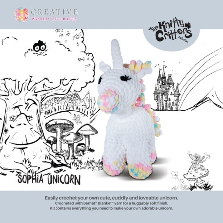 Knitty Critters - Sophia Unicorn - DIY Crochet Kit