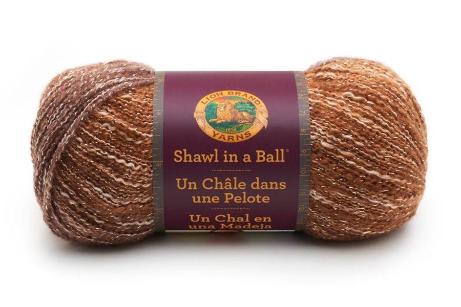 Lion Brand Yarn Shawl in a Ball