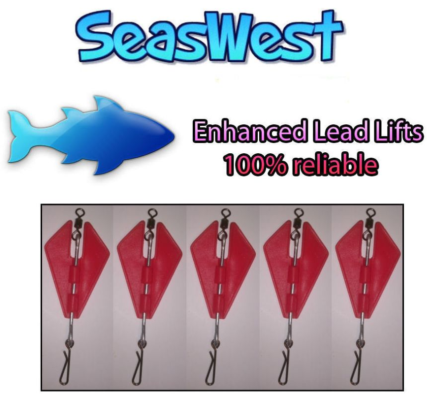 Seaswest PREMIUM Lead Lifts (5 in a pack) UK MADE