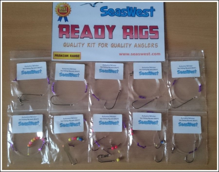 BOAT Sea Fishing Rig Pack - COD, BASS, CONGER, RAYS