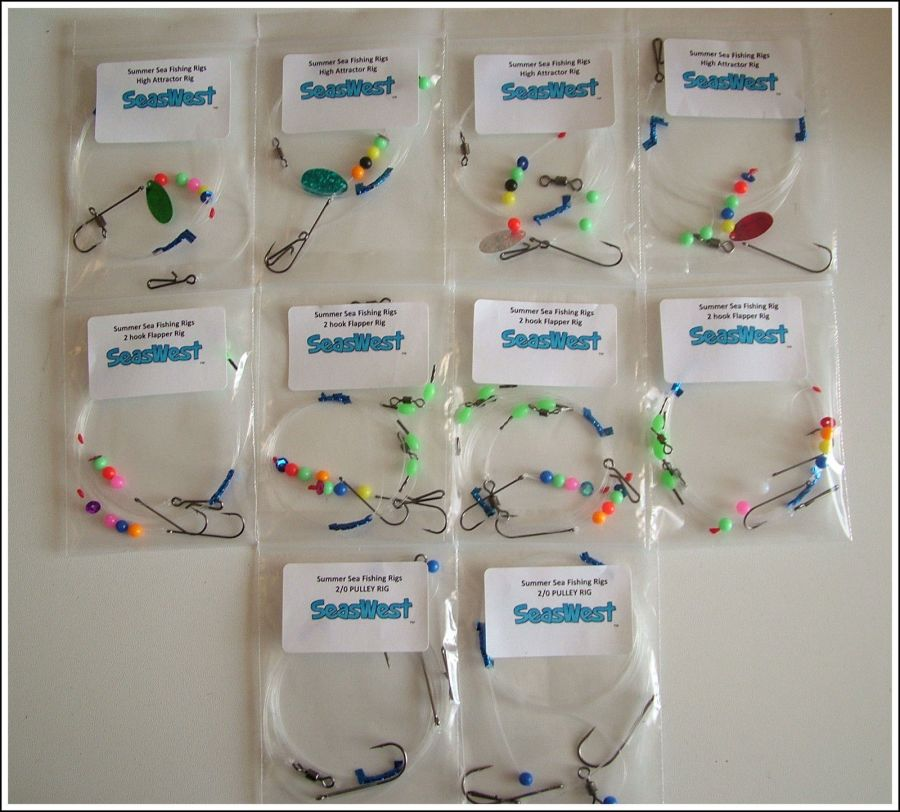 Sea Fishing Mixed Rigs x 10 - good for all species
