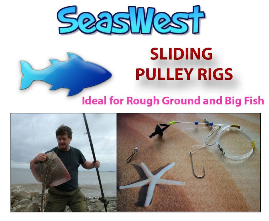10 Sliding Pulley Pennel Rigs - Made in Britain