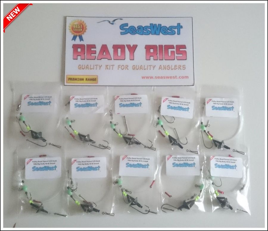 **NEW ** LUMINOUS ** Pulley Pennel Bead Rigs X 10