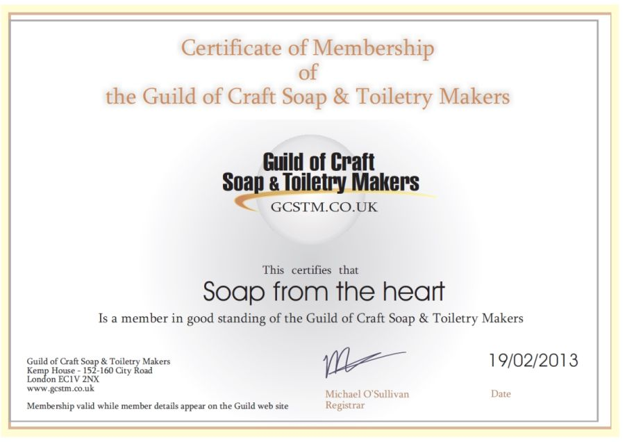 Guild of Craft Soap and Toiletry Makers - Soap from the heart