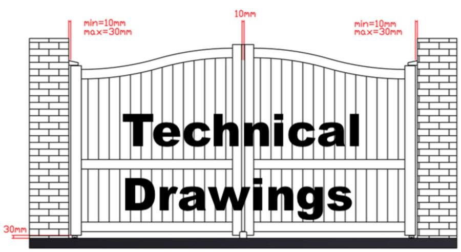 Technical Drawings - Alumax UK Gates Online