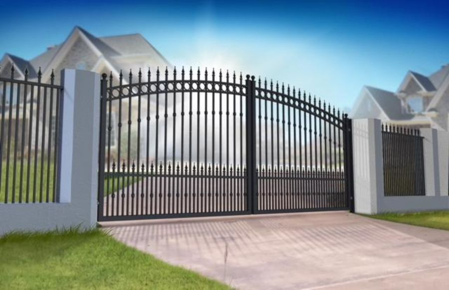 FYNE Ornate Double Swing Gate Curved Top up to 2400mm high RMG010DG