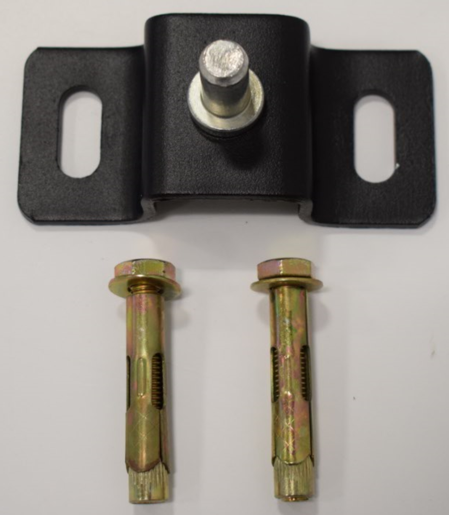 Bottom hinge for double or pedestrian gate