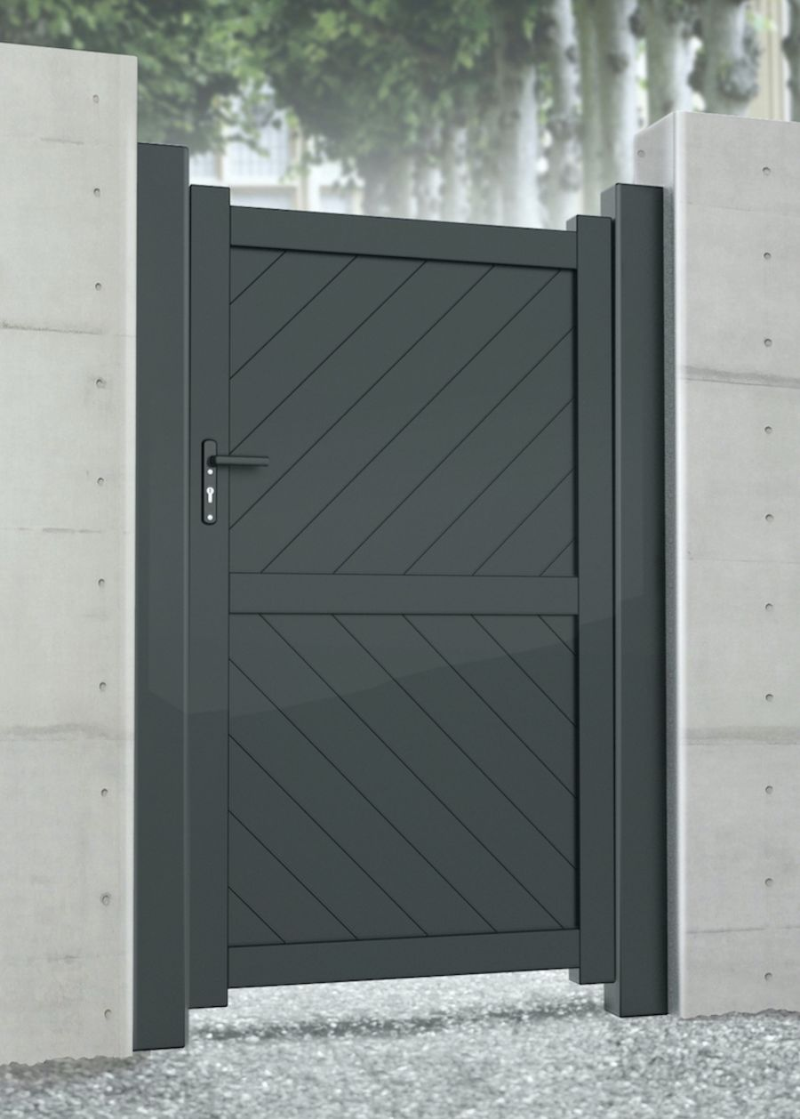 MORAR Pedestrian Flat Top Gate With Diagonal Infill RMG003PG Various Colours