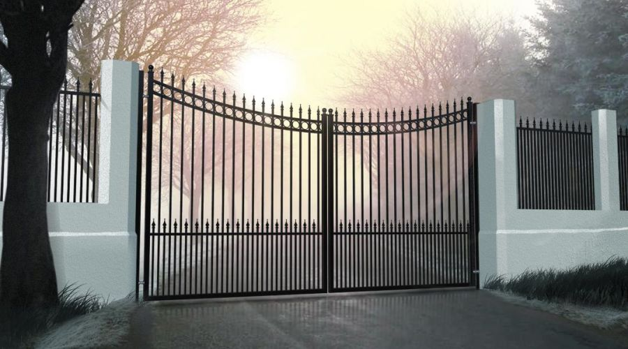TAY Ornate Double Swing Gate Curved Top up to 2400mm high RMG011DG