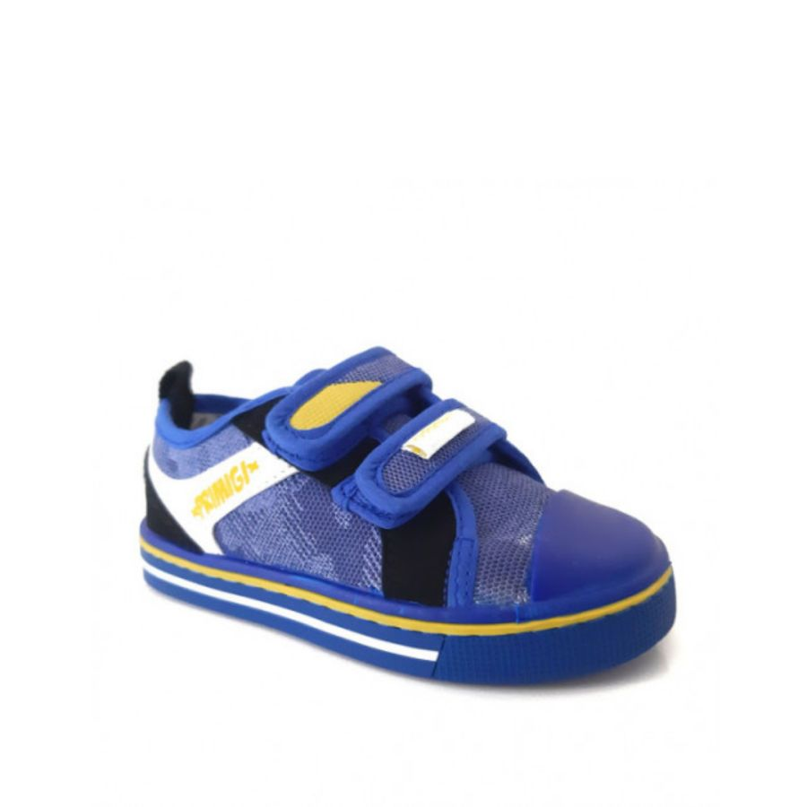 Canvas Pumps - Blue and Yellow
