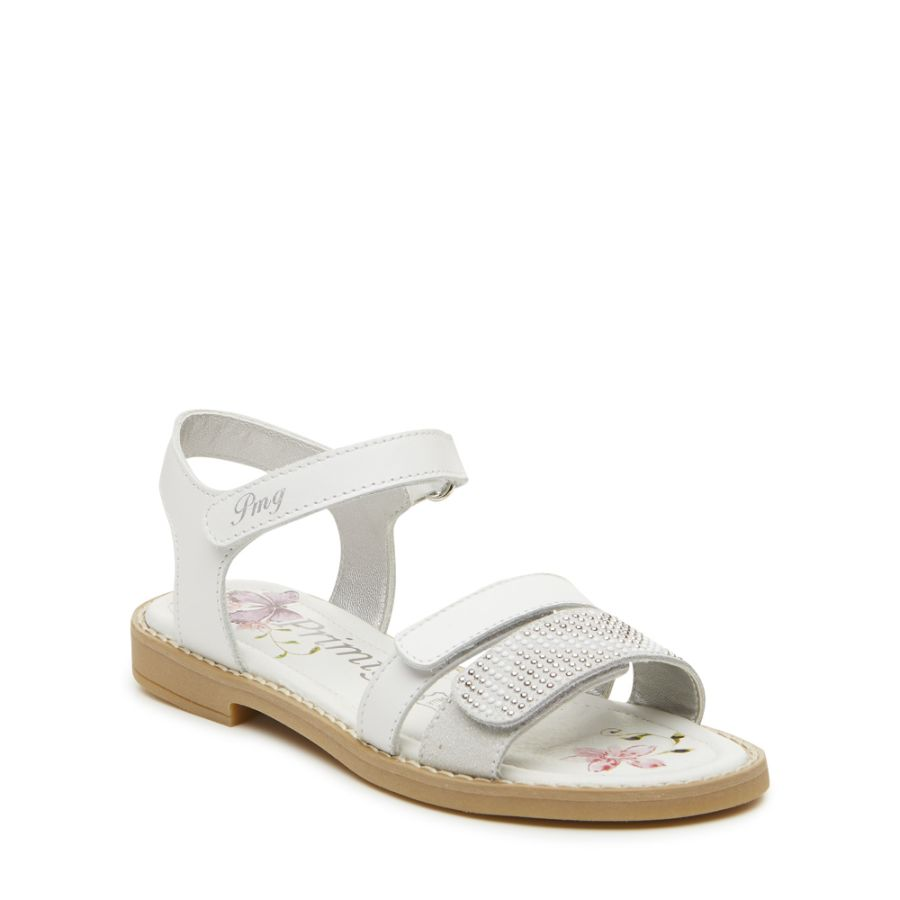 Fuchsia Sandals - White