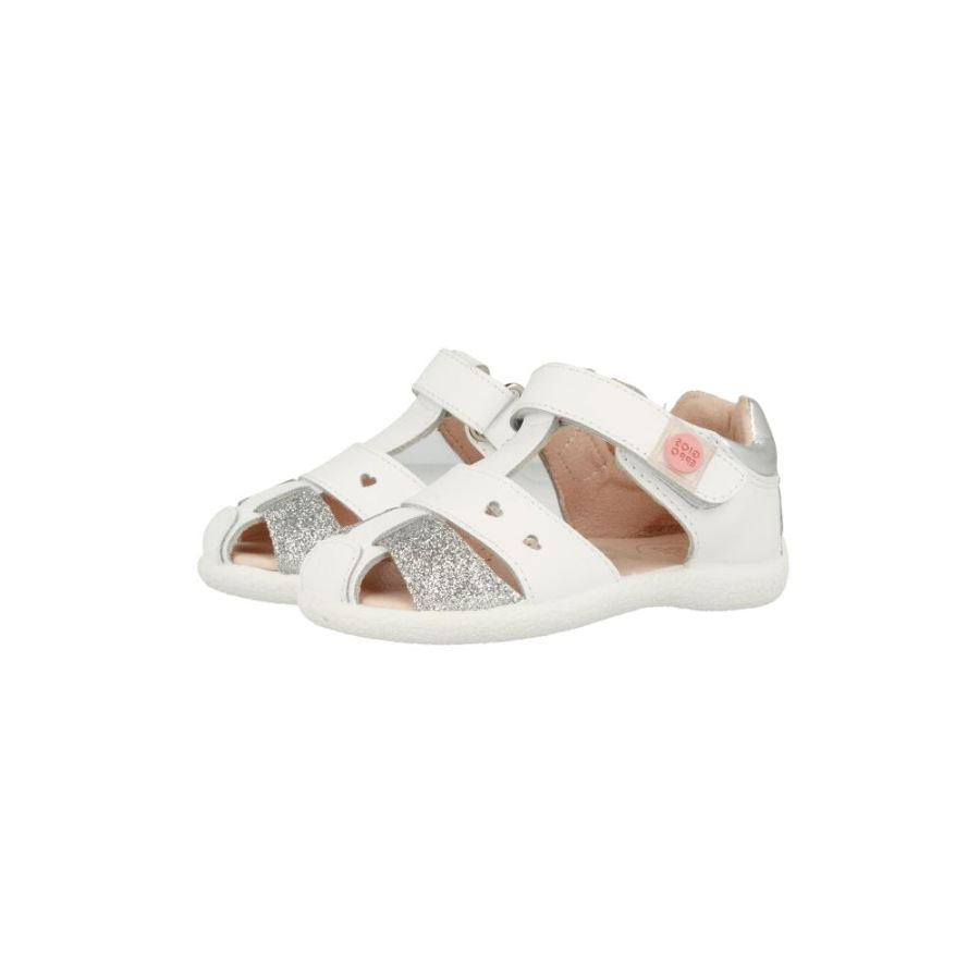 Sundance Sandals - White and Silver