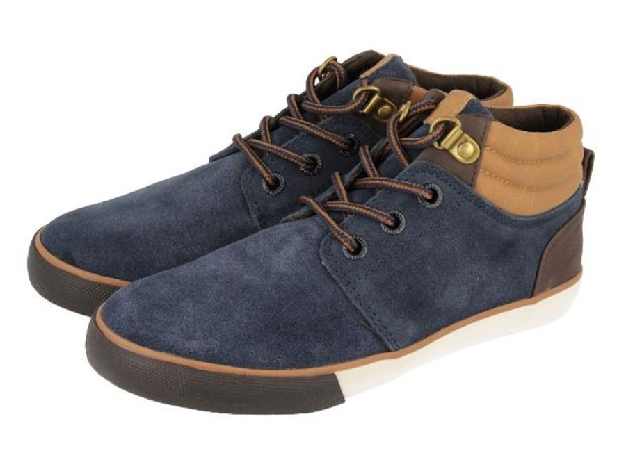 Moabit Boots in Navy Suede