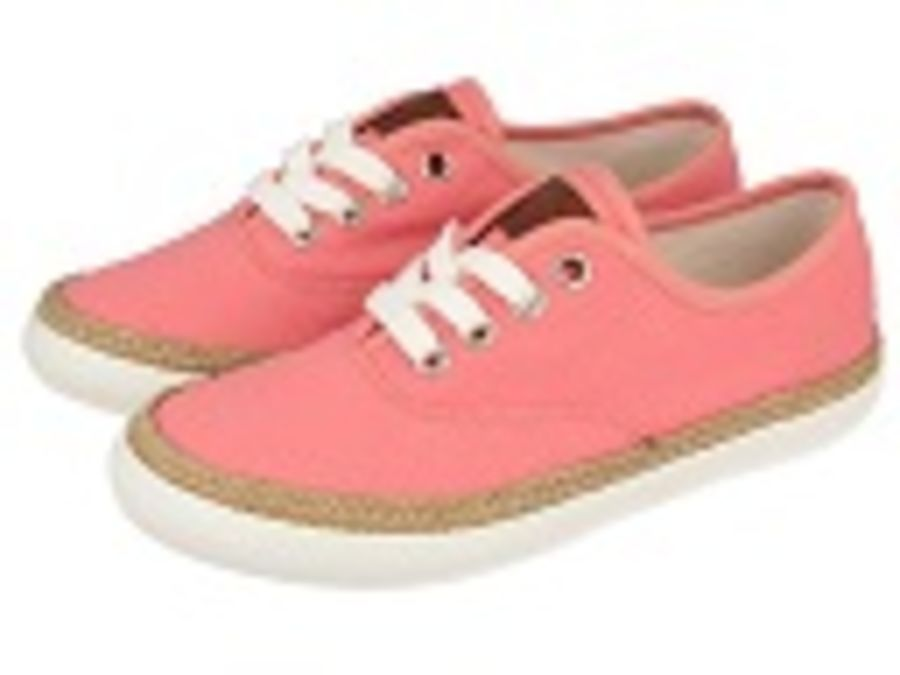 Mima in Coral Pink Canvas