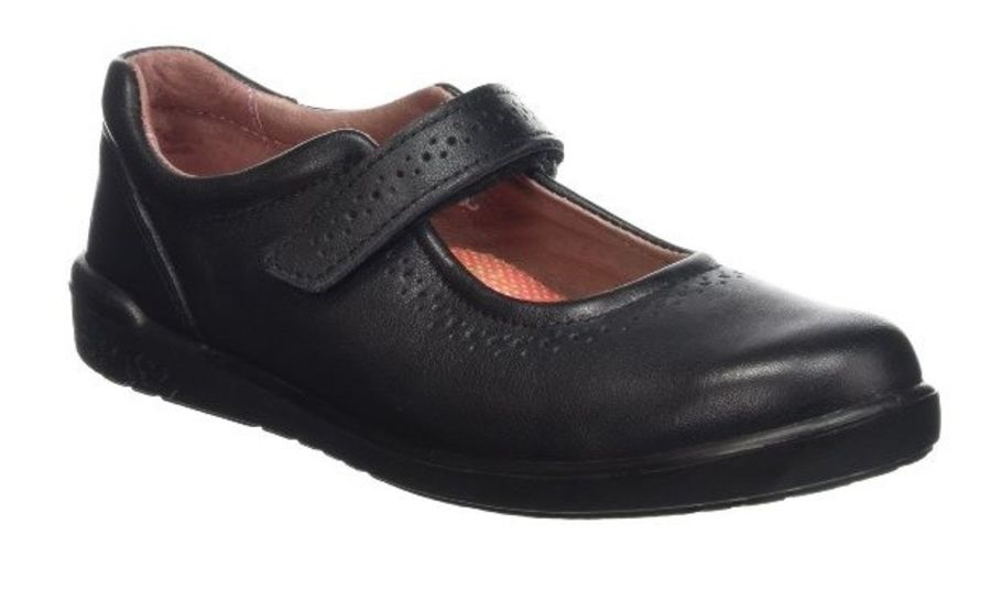 Lillia School Shoes -  Black
