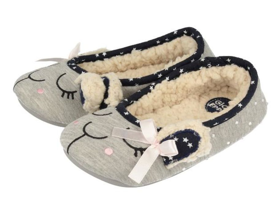 Lamb Slippers - Grey