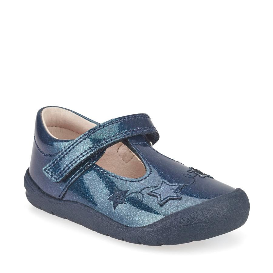 Sparkle First-walkers - Navy Glitter Patent