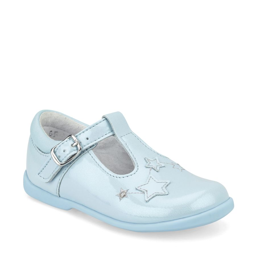 Star Gaze Pre-School - Pale Blue Glitter Patent