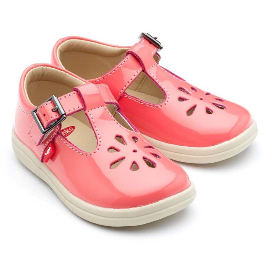 Trixie - Coral pink patent leather