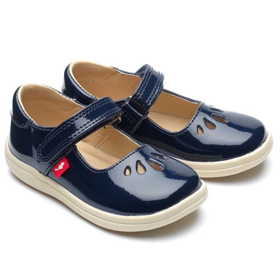 Elsa - Navy patent leather shoes