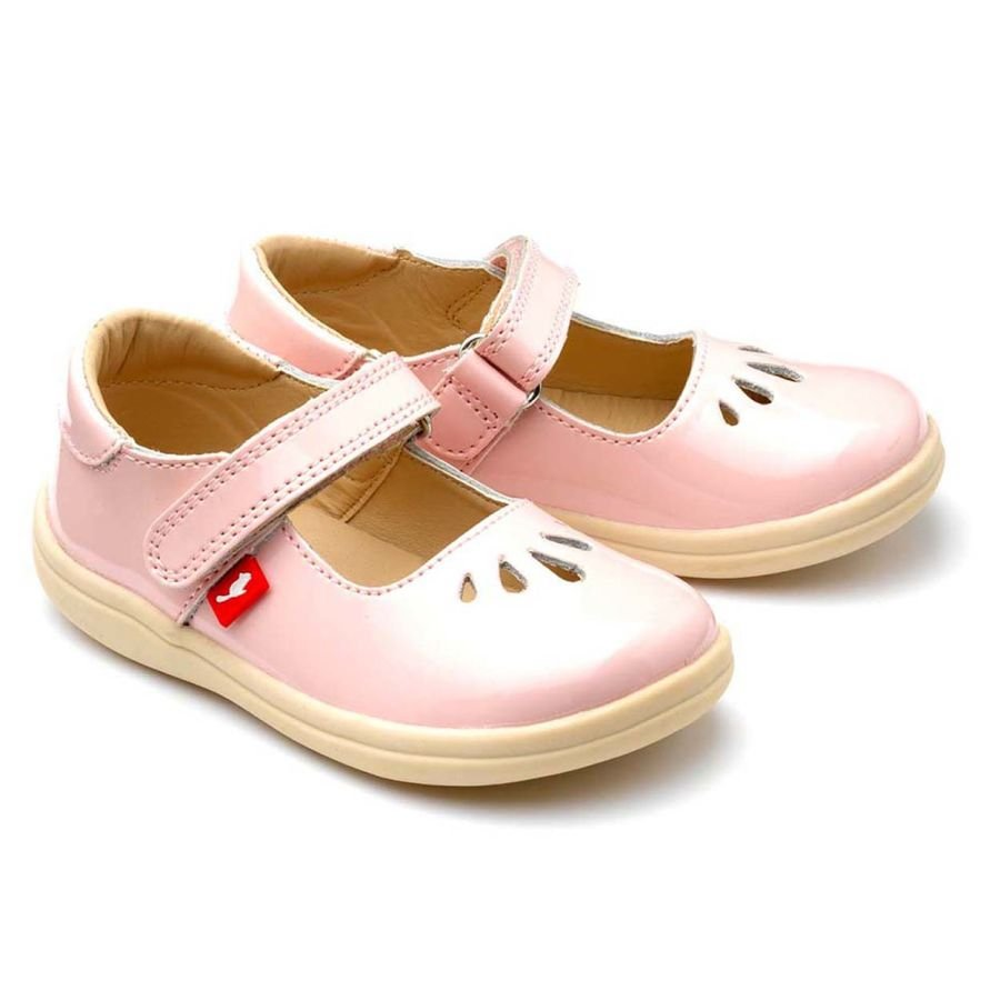 Elsa - Baby pink patent leather shoes