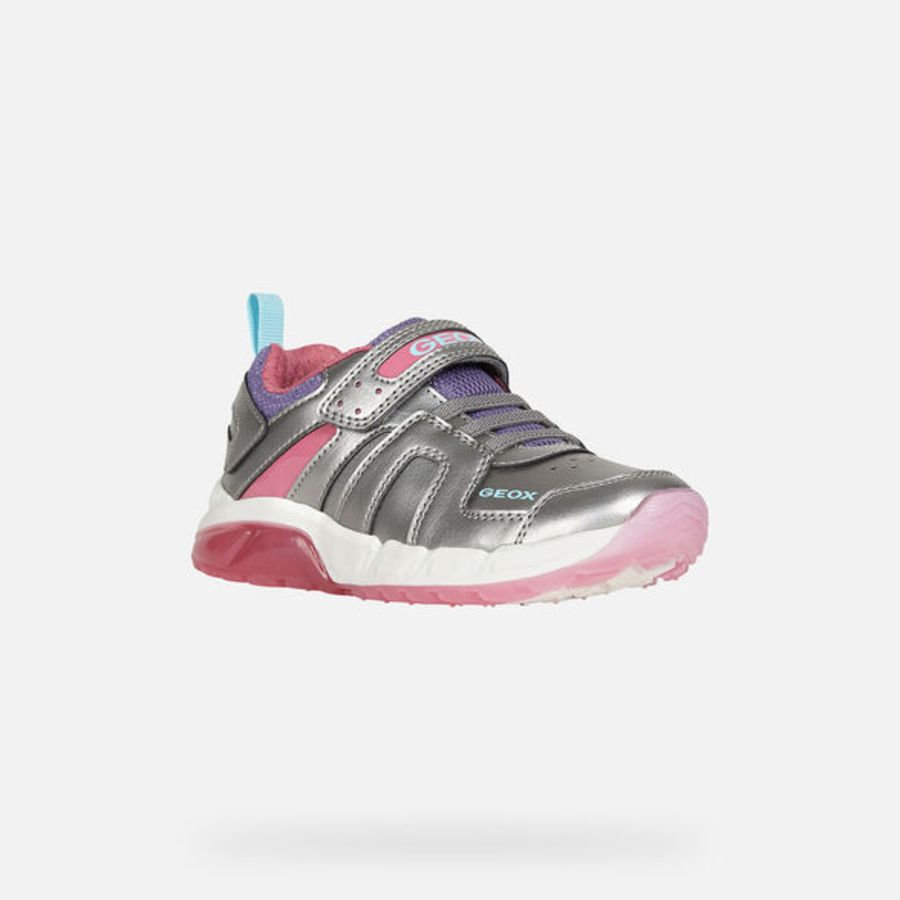 Android Light up Trainers - Navy and pink
