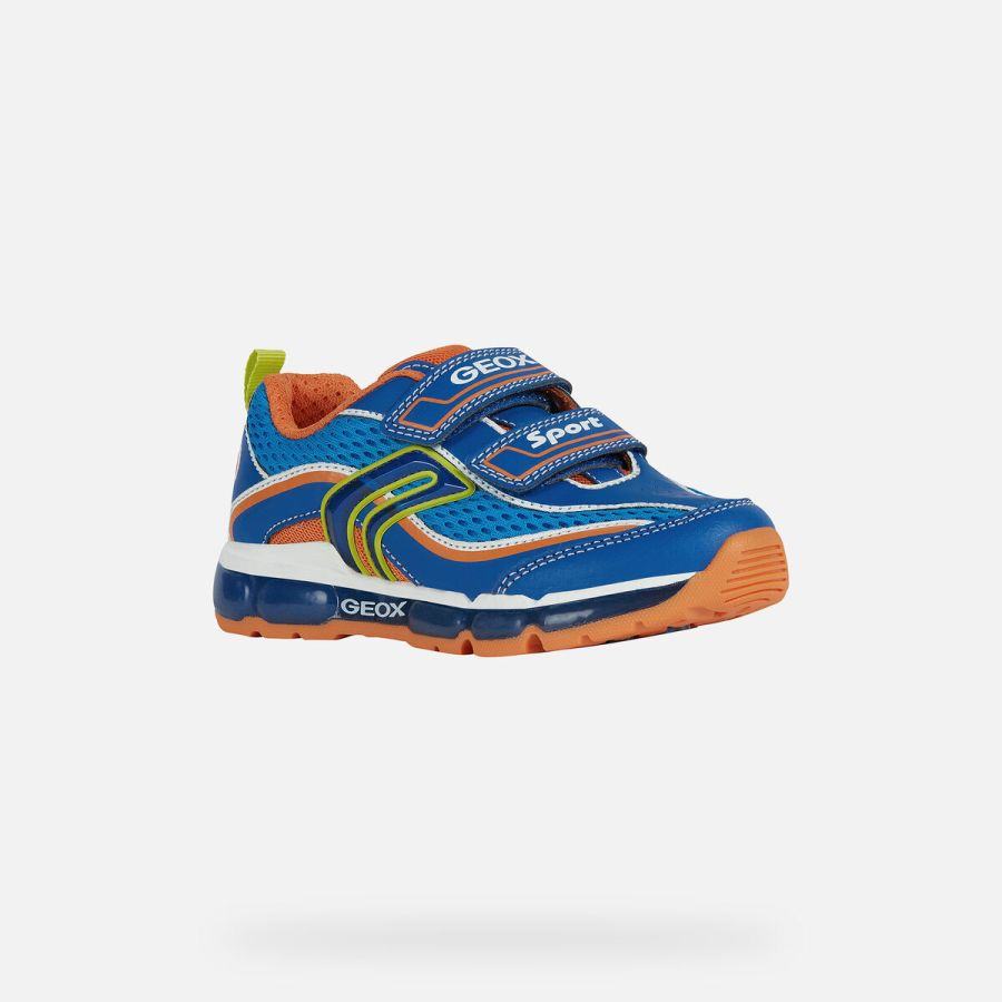 Android Light up Trainers - Blue and Orange