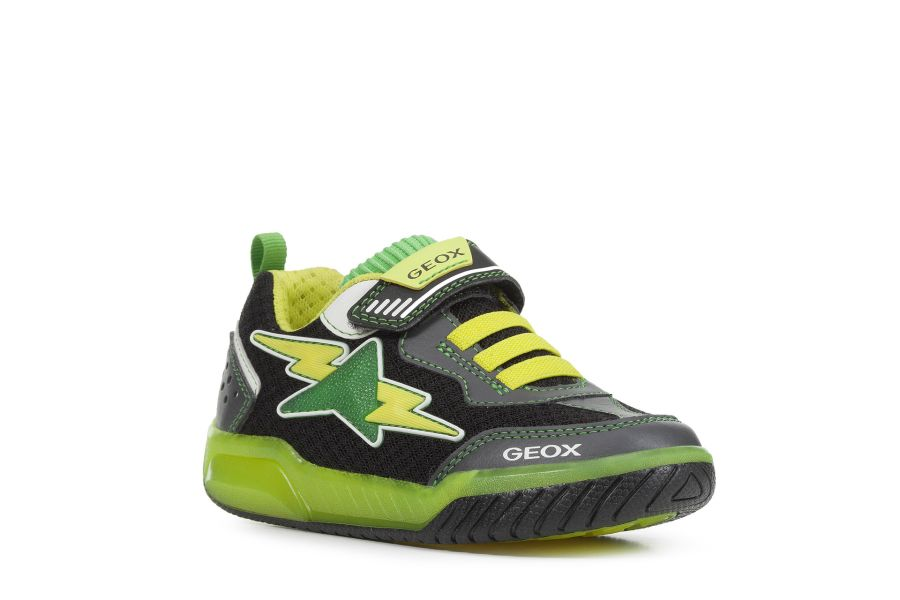 Inek Light up Trainers - Black and Green