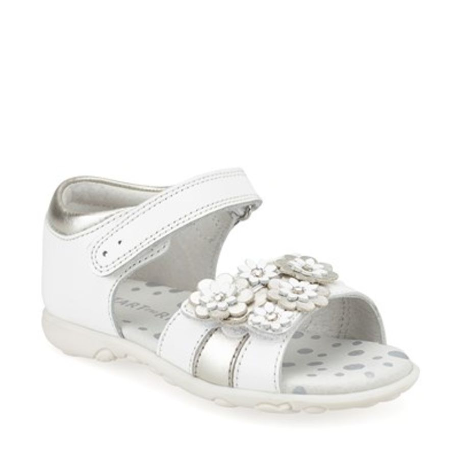 Bloom First-Sandals - White and Silver